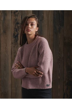 Superdry Dames Truien - Freya trui van tweed met ronde hals