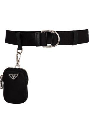 Prada Canvas belt with pouch