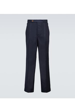 King and Tuckfield Pleated TENCEL® and cotton pants