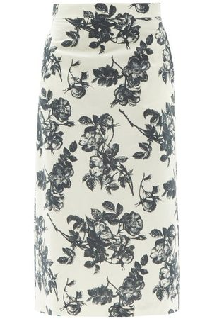 BROCK COLLECTION Stella Floral-print Cotton Midi Skirt - Womens - White Multi