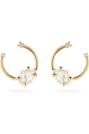 Suzanne Kalan Diamond, Topaz & 14kt Gold Earrings - Womens - Yellow Gold