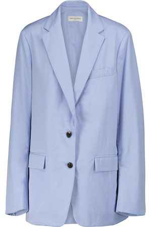 DRIES VAN NOTEN Cotton poplin sleeveless blazer