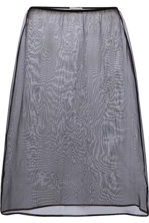 DRIES VAN NOTEN High-rise silk organza midi skirt