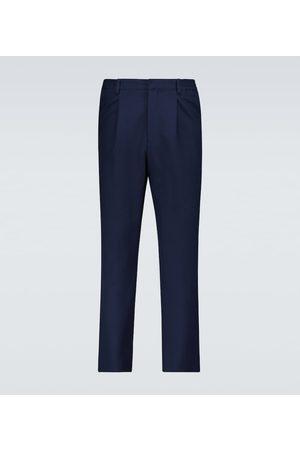 Ami Wool-blend canvas pants