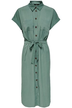 Only Knoopriem Blousejurk Dames Green