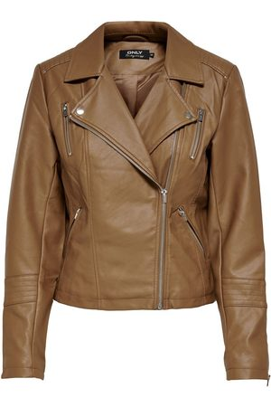 Only Leatherlook Jas Dames Bruin