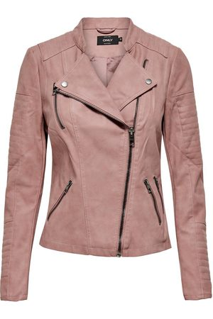 Only Lederlook Jas Dames Roze