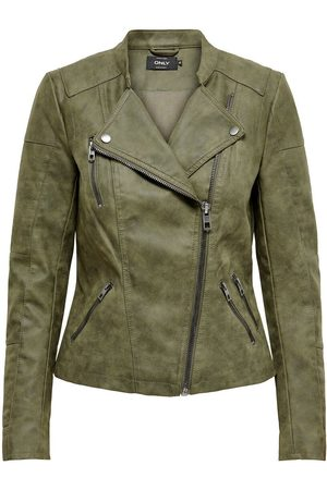 Only Lederlook Jas Dames Green