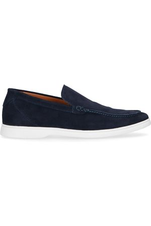 Sacha Heren Loafers - Donkerblauwe suède loafers