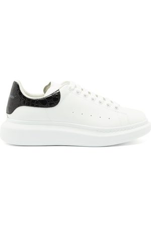 Alexander McQueen Exaggerated-sole Leather Trainers - Mens - White