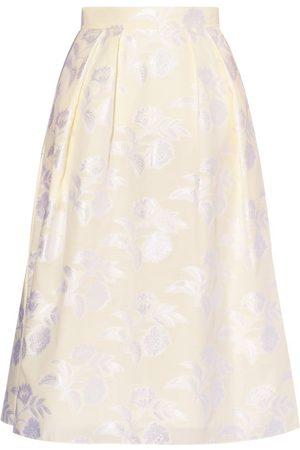 Erdem Dames Rokken - Reed A-line Floral Fil-coupé Skirt - Womens - Ivory