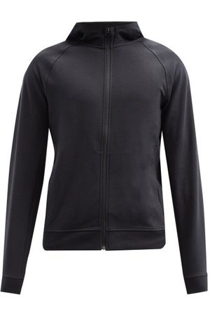 Lululemon City Sweat Zip-through Jersey Hooded Sweatshirt - Mens - Black