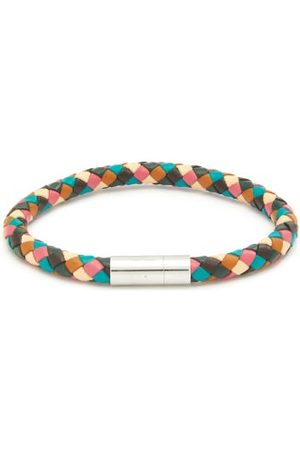 Paul Smith Woven-leather Bracelet - Mens - Multi