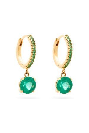 Ileana Makri Dames Oorbellen - Grass Seed Emerald & 18kt Gold Earrings - Womens - Green Gold