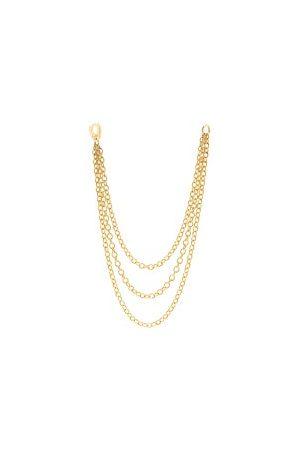 Maria Tash 14kt Gold Triple Chain-link Single Earring - Womens - Yellow Gold