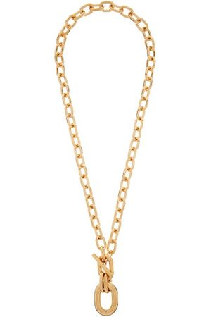 Paco rabanne Hoop-pendant Chain Necklace - Womens - Gold