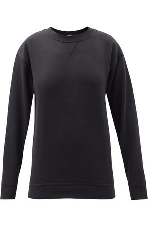 Lululemon All Yours Crew-neck Cotton-blend Jersey Sweatshirt - Womens - Black