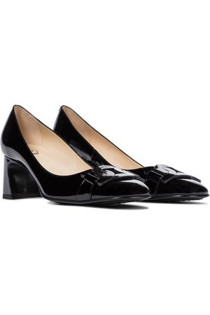 Tod's Slide patent leather pumps
