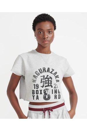 Superdry Sport Afgeknipt Training Boxing sweatshirt