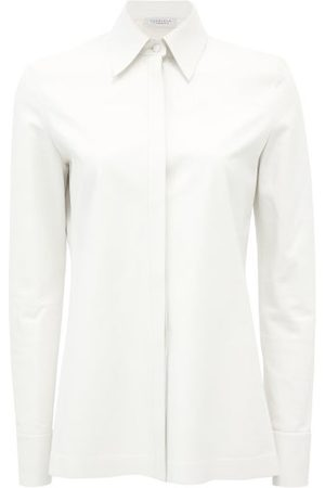 GABRIELA HEARST Timmins Leather Shirt - Womens - White