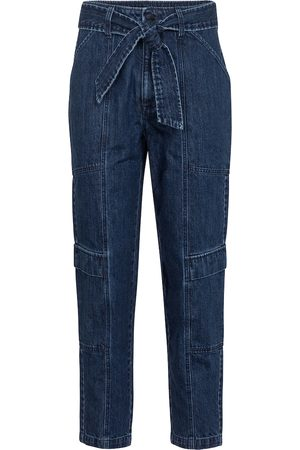 J Brand Athena cropped paperbag jeans