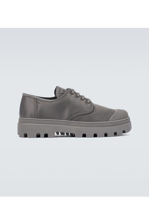 Prada Nylon gabardine derby shoes