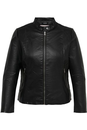 Only Dames Jacks - Curvy Leatherlook Imitatieleren Jack Dames Zwart