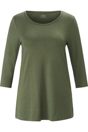 Anna Aura Lang shirt met ronde hals en mouwen in 3/4-lengte Van