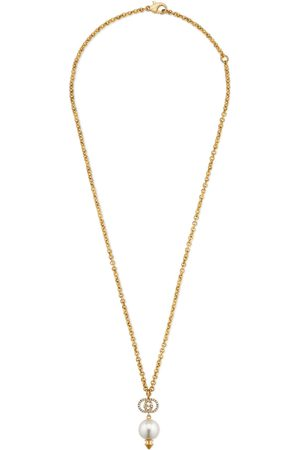 Gucci Dames Kettingen - Interlocking G necklace with pearl