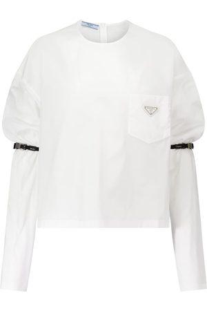 Prada Puff-sleeve cotton top