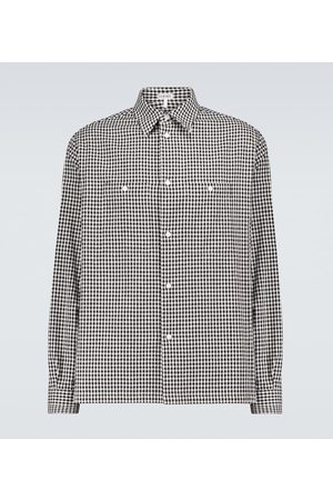 Loewe Military pocket checked shirt