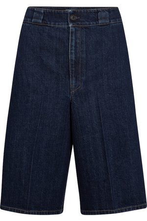 Prada High-rise denim Bermuda shorts