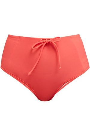 BOWER Kit Drawstring Bikini Briefs - Womens - Red