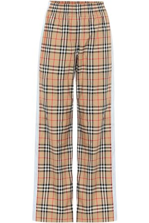 Burberry Vintage Check high-rise wide-leg pants