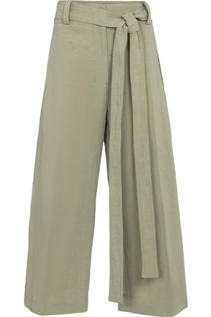 Moncler Genius 2 MONCLER 1952 cotton and linen cropped pants