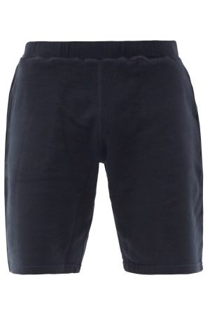Sunspel Loopback Cotton-jersey Shorts - Mens - Black