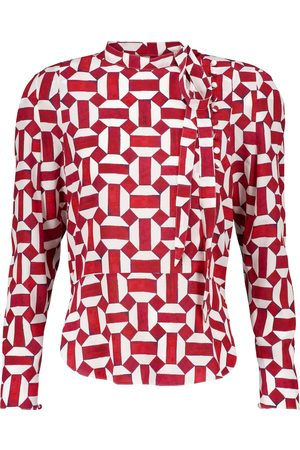 Isabel Marant Artus printed stretch-silk blouse