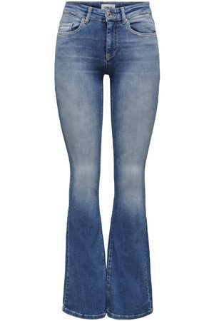 Only Onlblush Life Mi Flared Flared Jeans Dames Blauw