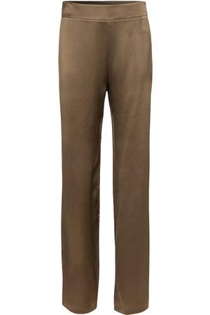 Safiyaa Zaya silk satin straight pants