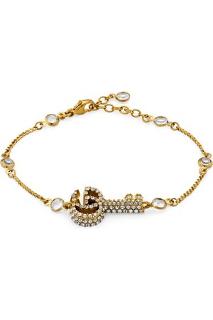 Gucci Double G key bracelet with crystals
