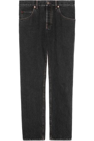 Gucci Tapered eco stonewashed denim jeans