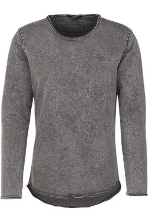 Tigha Heren Longsleeve Milo Sweat Spray LS (vintage stone grey)