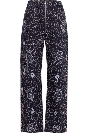 Isabel Marant, Étoile Noferis printed cotton wide-leg pants