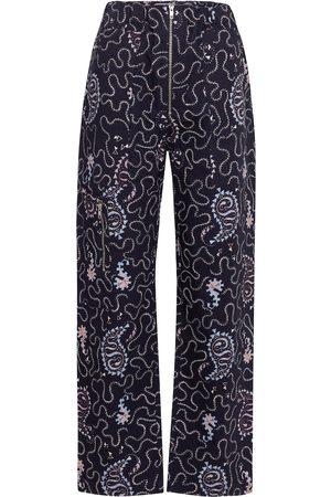 Isabel Marant, Étoile Noferis printed cotton wide-leg pants