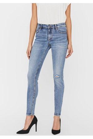 Vero Moda Dames Skinny - Skinny fit jeans »VMLYDIA DESTROYED«