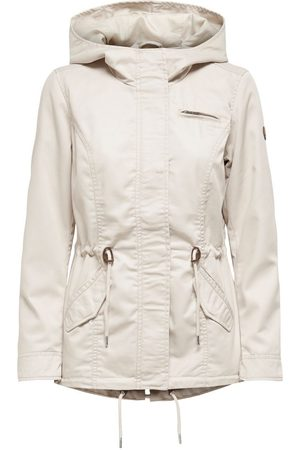 Only Canvas Parka Jas Dames Grijs