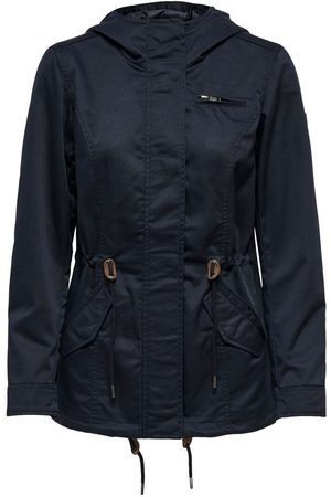 Only Canvas Parka Jas Dames Blauw