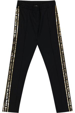 Balmain Logo cotton jersey leggings