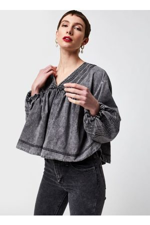 Free People Charlotte Denim Blouse by