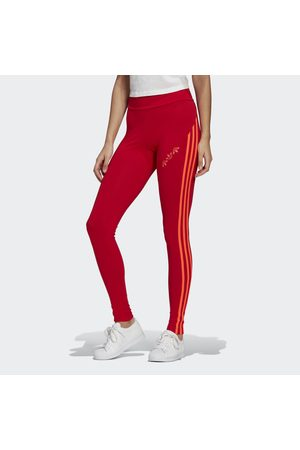 adidas Dames Leggings & Treggings - Adicolor Sliced Trefoil High-Waisted Legging
